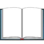 Open hardcover book printing